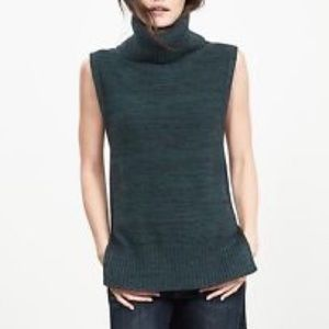 BR Chunky sleeveless turtleneck sweater